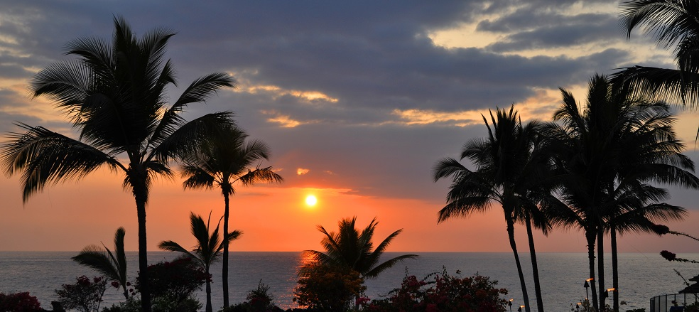 Sunset picture in Hawaii